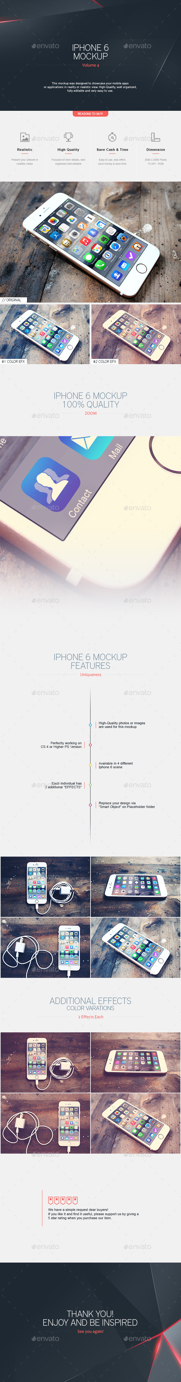 Iphone 6 Mockup V.4 - Mobile Displays
