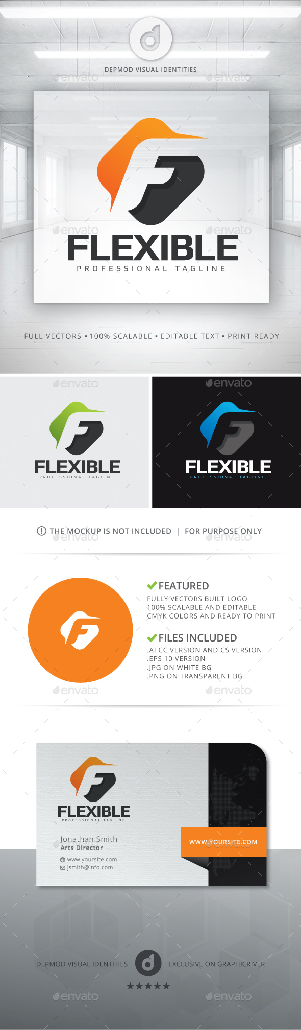 Flexible Logo - Letters Logo Templates