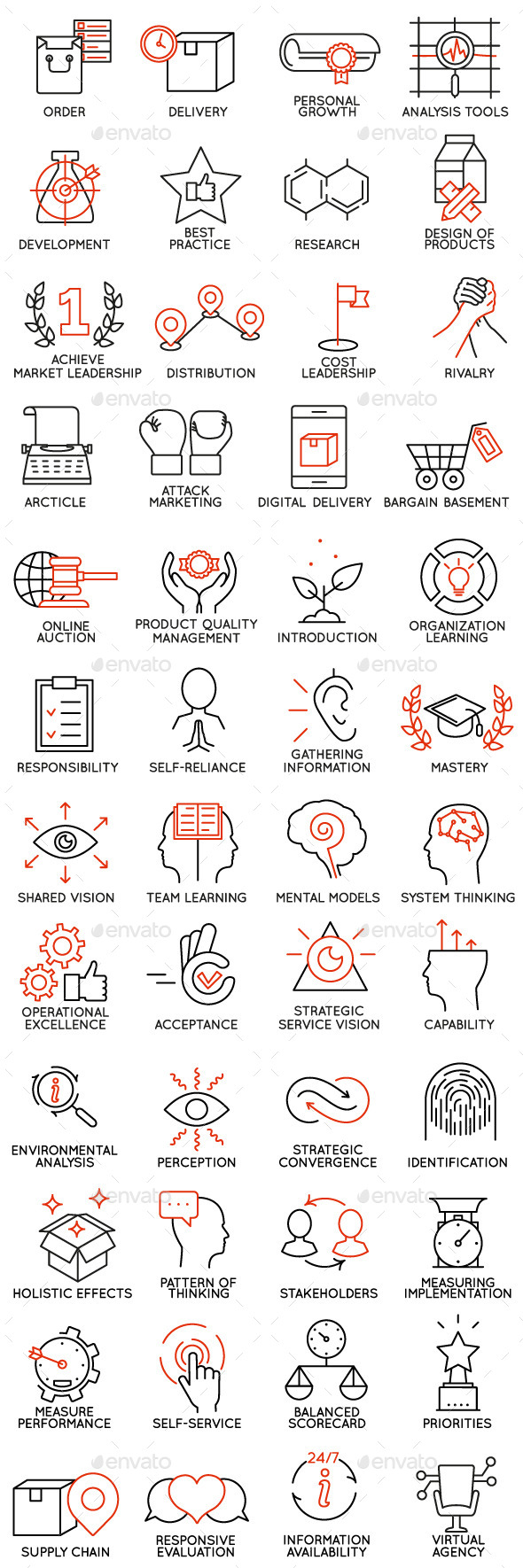 Icons Set of Business Management - part 2 - Business Icons