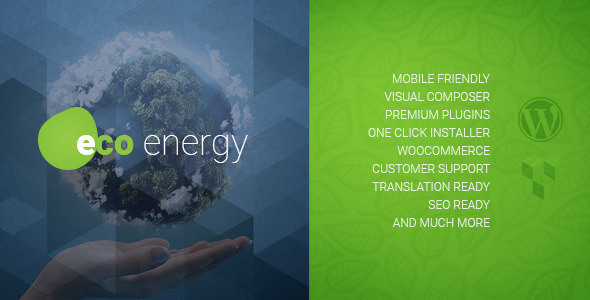 ECO Energy | Ecology & Alternative Energy Company WordPress Theme