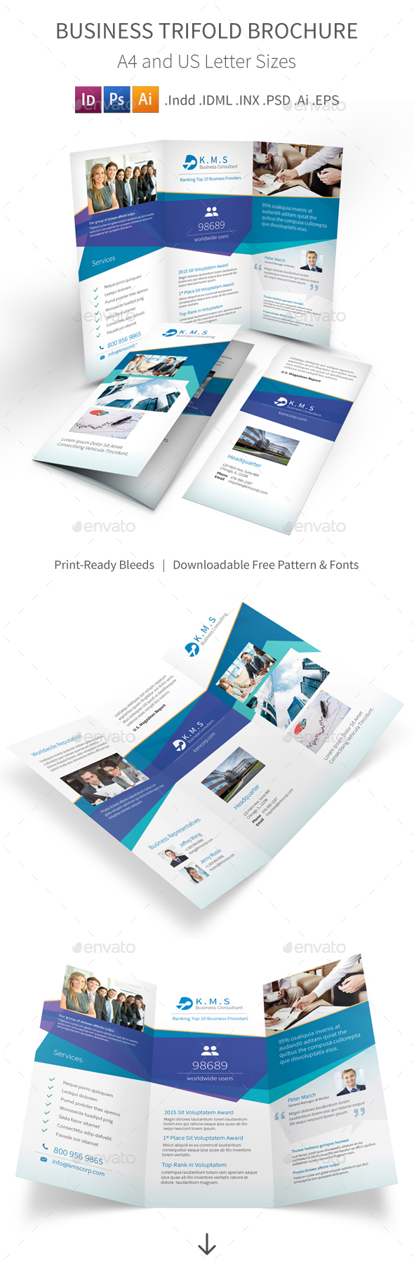 Business Consulting Service Trifold Brochure - Corporate Brochures