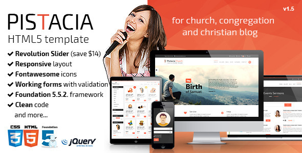Hope - Church Responsive HTML5 Template - Churches Nonprofit