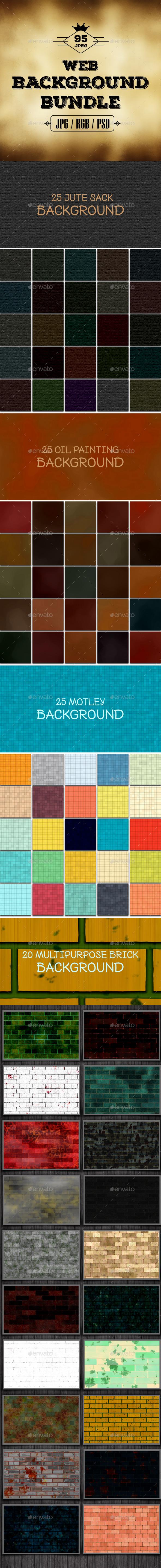95 Web Background Bundle - Miscellaneous Backgrounds