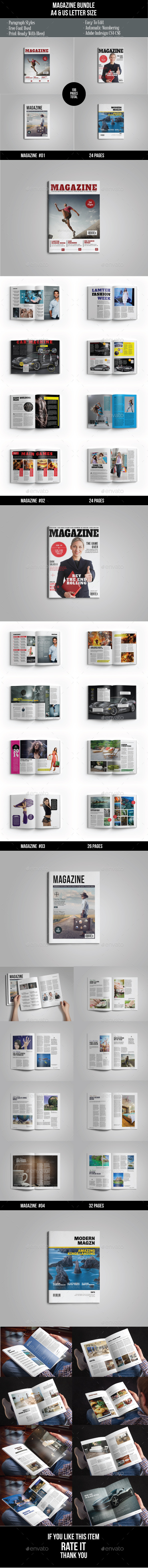 Magazine Bundle Vol. 2 - Magazines Print Templates