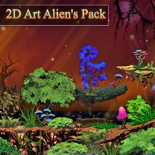 2D Alien's Art Pack - 3DOcean Item for Sale