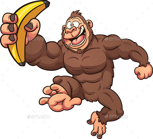 Cartoon Gorilla - Animals Characters