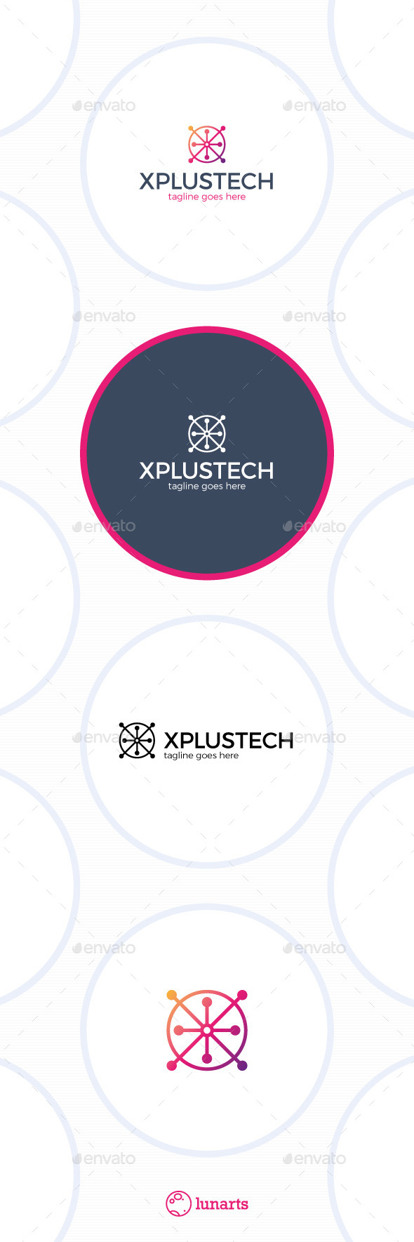 Plus Tech Logo - Letter X - Letters Logo Templates