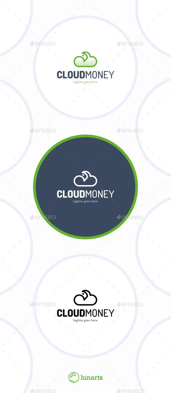 Cloud Money Logo - Symbols Logo Templates