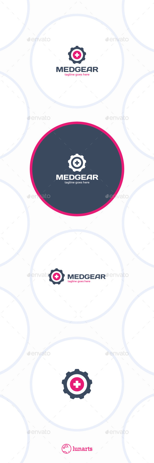 Medical Gear Logo - Plus - Symbols Logo Templates