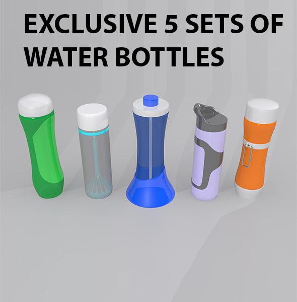 Water Bottles Package - 3DOcean Item for Sale