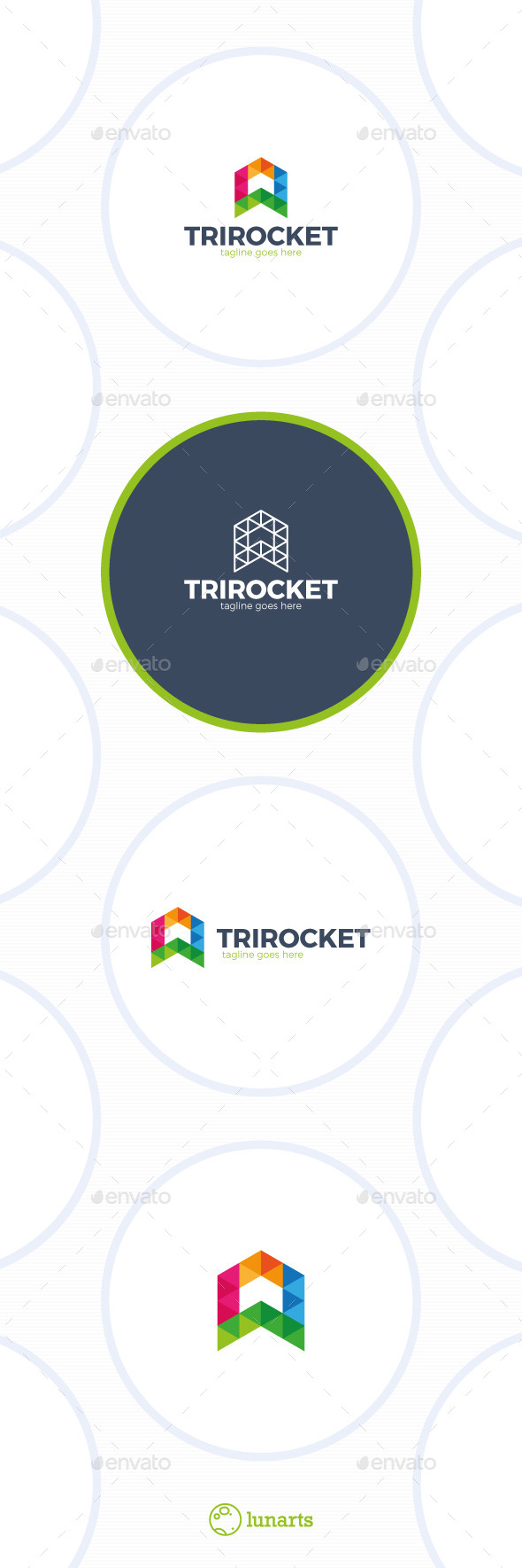 Triangle Rocket Logo - Abstract Logo Templates