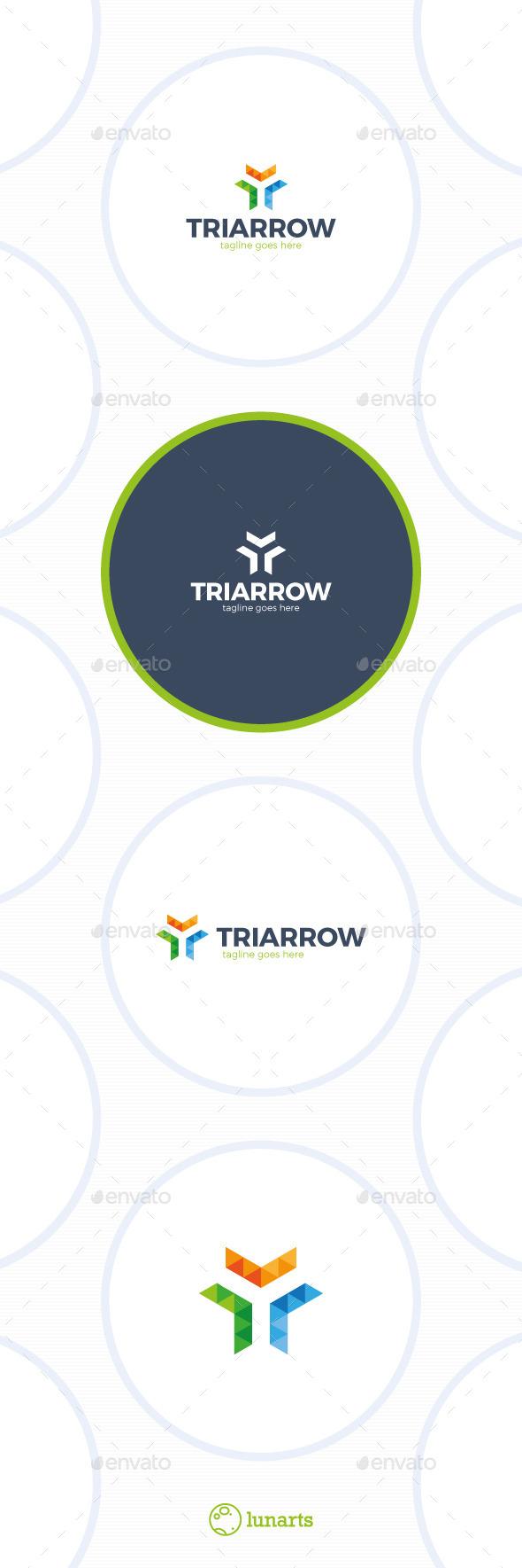 Trinity Arrow Triangle Logo - Abstract Logo Templates