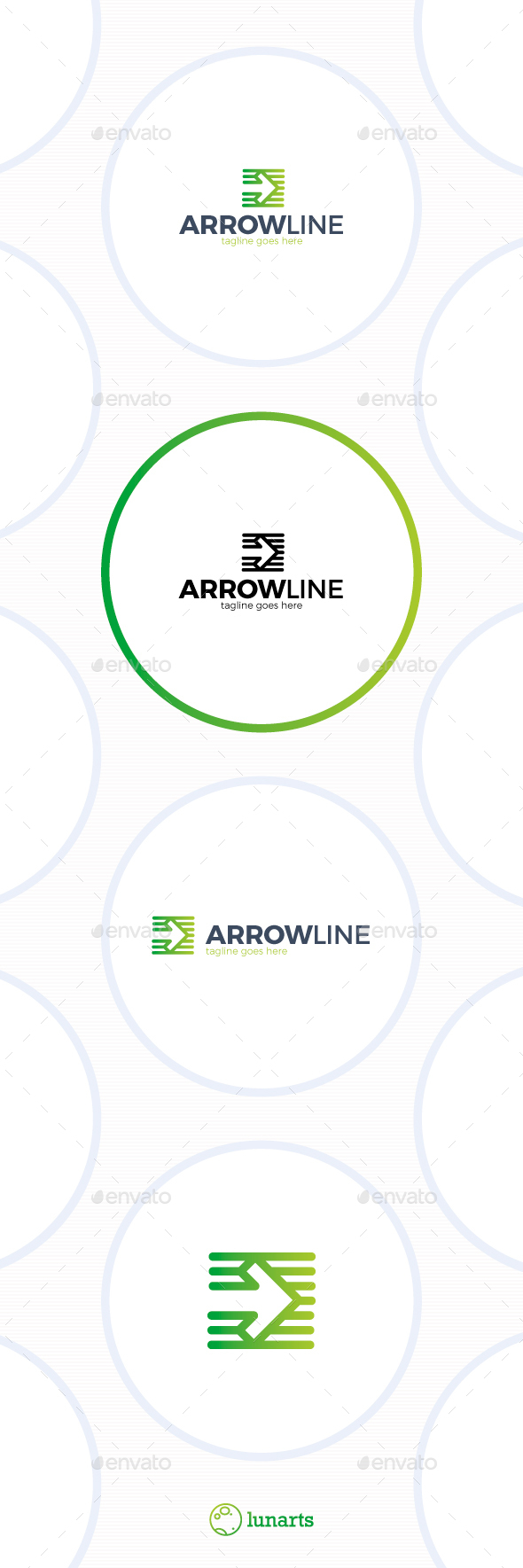 Line Arrow Logo - Symbols Logo Templates