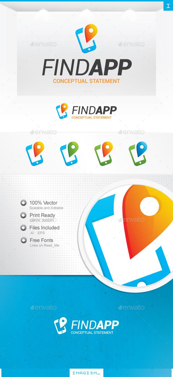 Find App Logo - Symbols Logo Templates