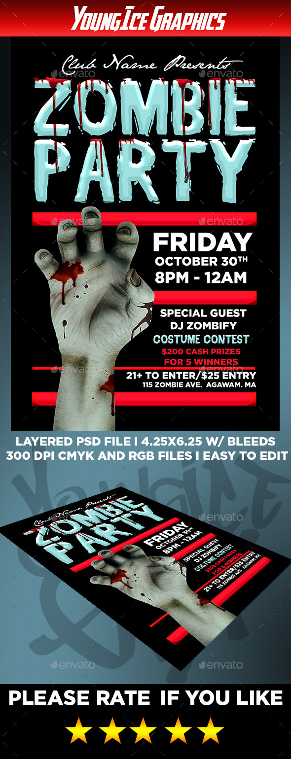 zombie party flyer - Dolap.magnetband.co