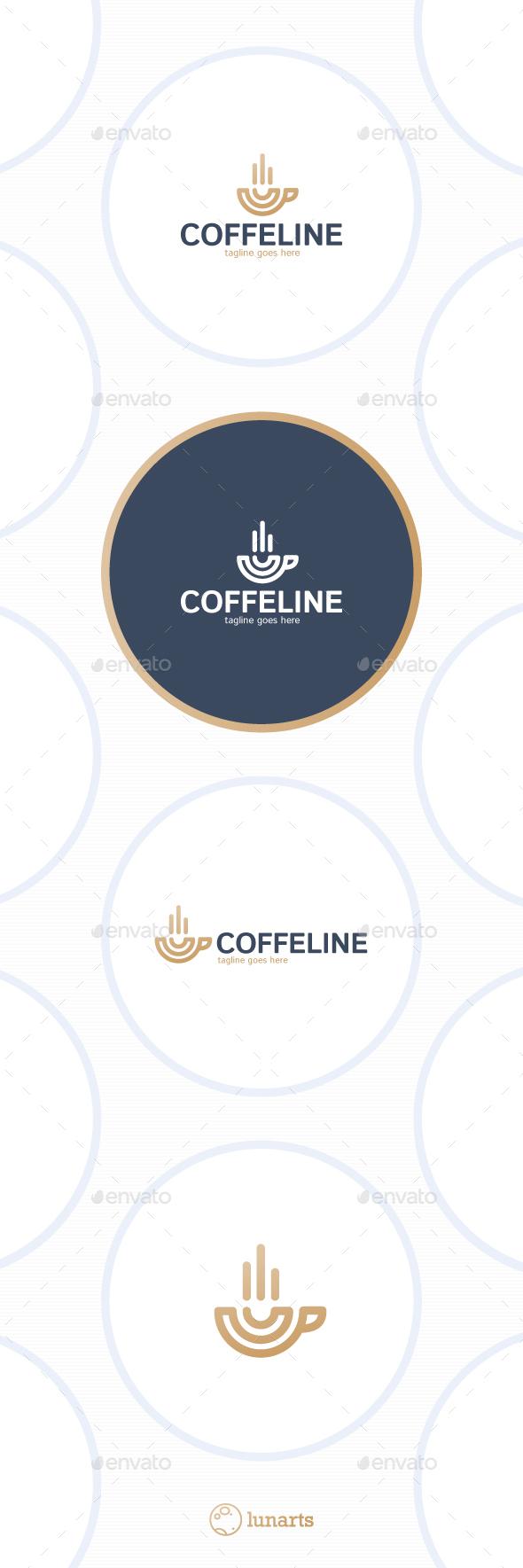 Coffe Logo - Line Cup - Symbols Logo Templates