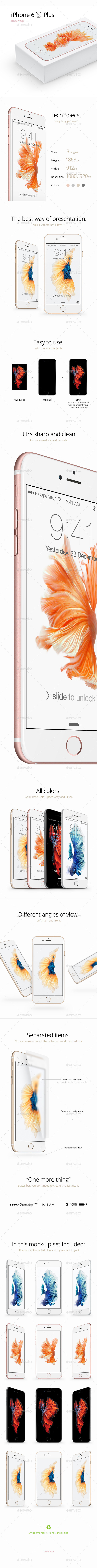 iPhone 6S Plus Mock-up - Mobile Displays