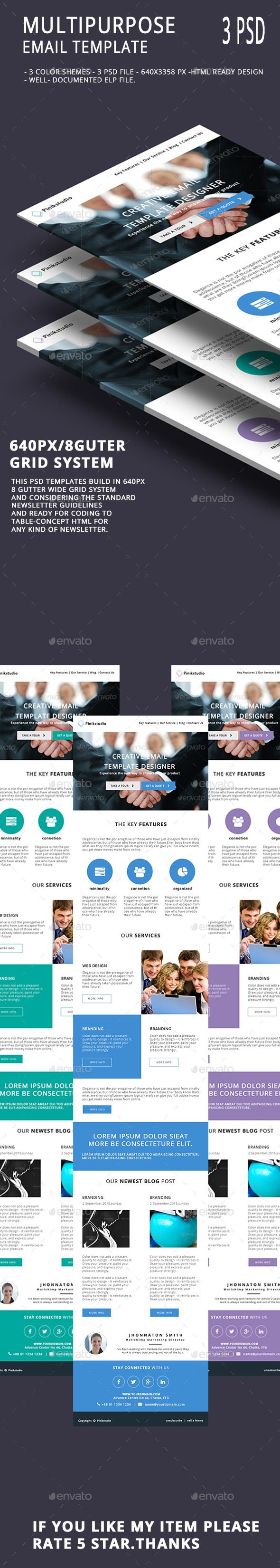 Multipurpose Email Template V4 - E-newsletters Web Elements