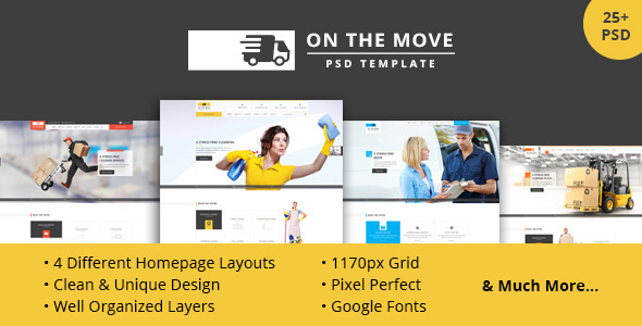 On The Move – PSD for Movers, Cleaners, Storage, etc