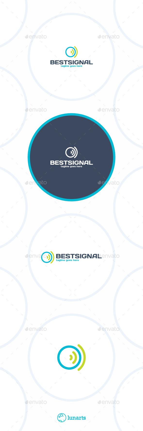 Best Signal Logo - Circle Wireless - Symbols Logo Templates