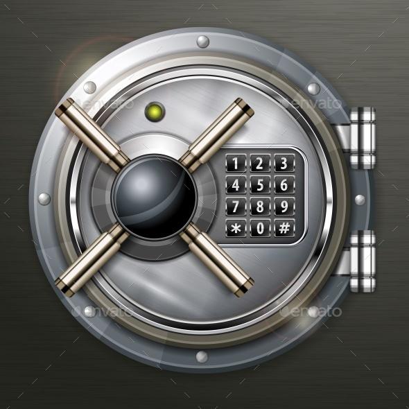 Bank Vault on Dark - Concepts Business