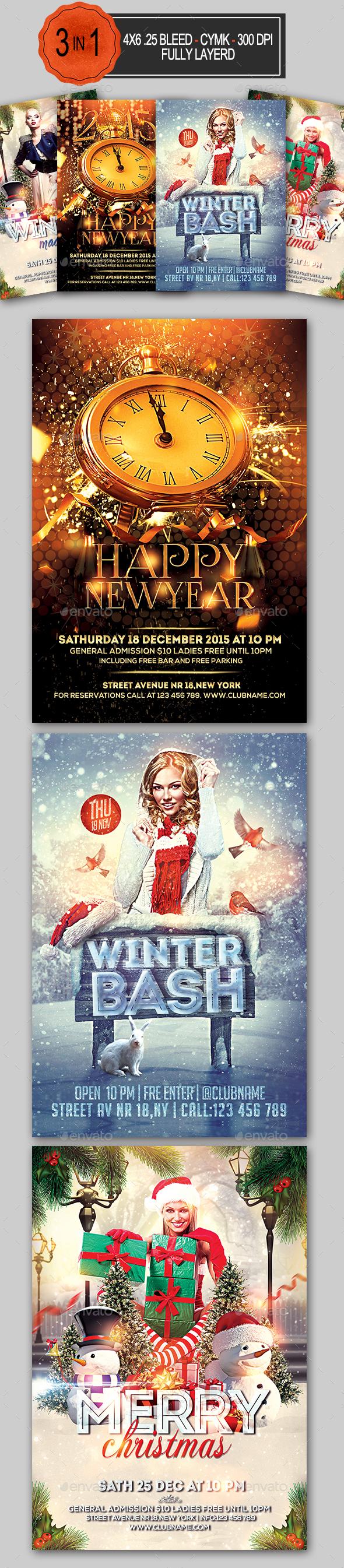 Holiday Flyer Bundle - Holidays Events