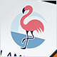 Flamingo Bird Woman Logo - GraphicRiver Item for Sale