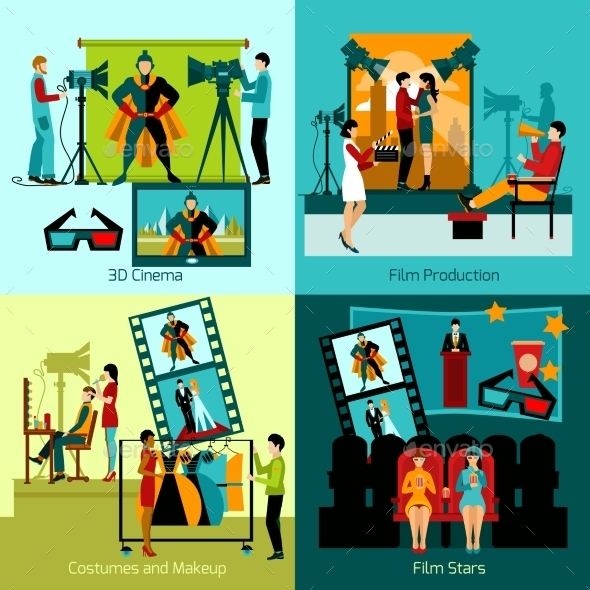 Cinema People Set - Miscellaneous Vectors
