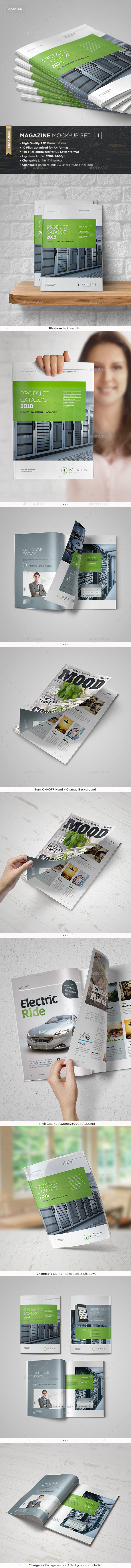 Magazine Mock-Up Set - Magazines Print