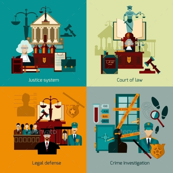 Law Flat Set - Miscellaneous Vectors