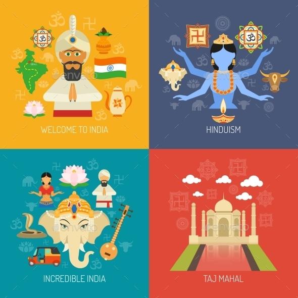 India Concept Set - Miscellaneous Vectors