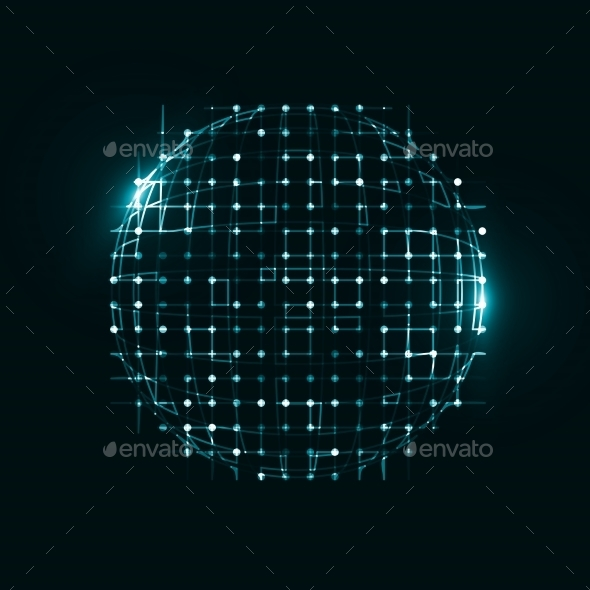 Abstract Technological Background - 3D Backgrounds