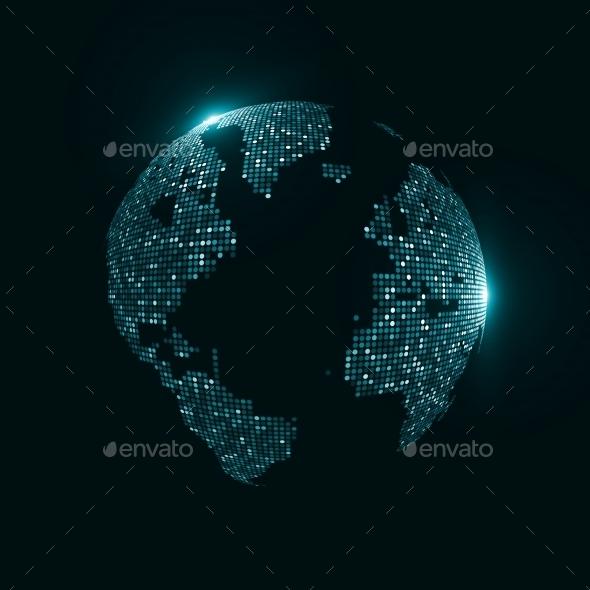 Technology Image Of Globe - Tech / Futuristic Backgrounds