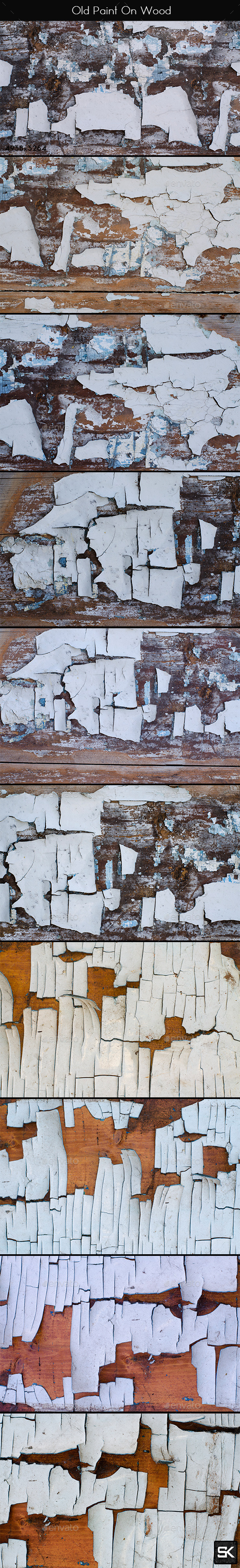 Old Paint On Wood - Wood Textures