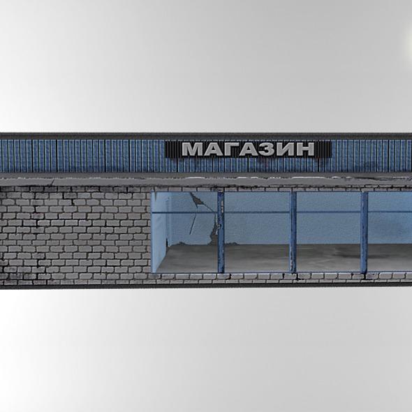 Deserted Shop - 3DOcean Item for Sale