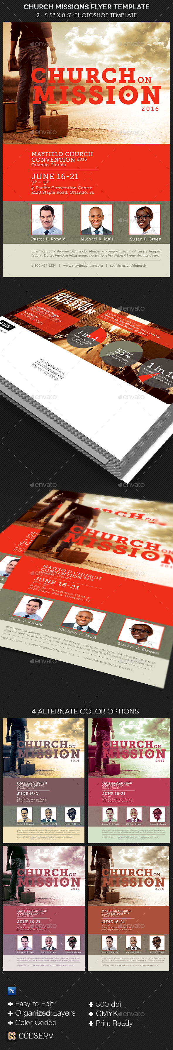Church Missions Flyer Template - Church Flyers