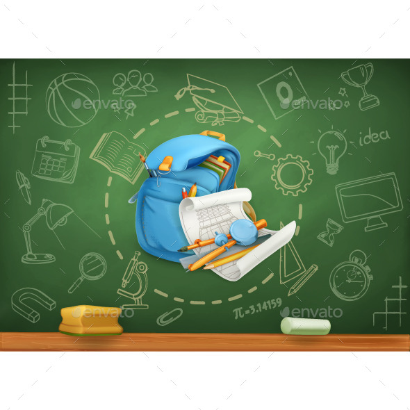 School Infographics Background - Backgrounds Decorative