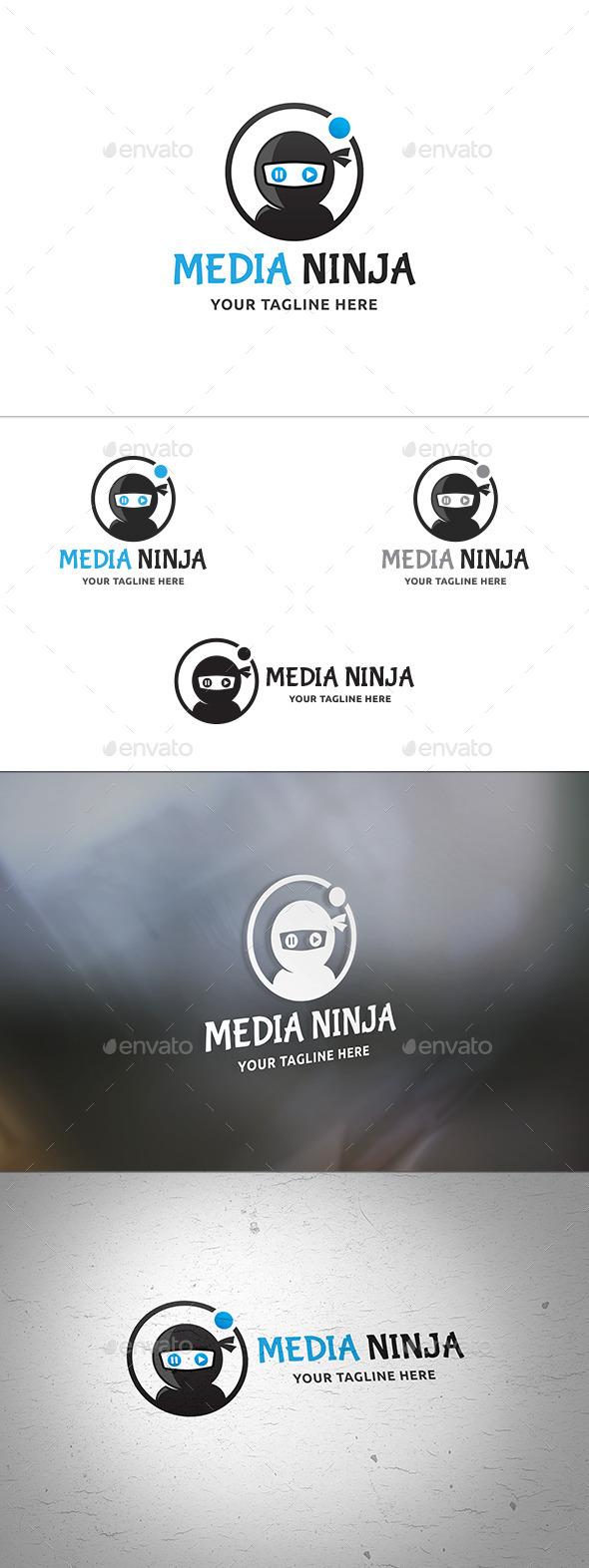 Media Ninja Logo - Humans Logo Templates