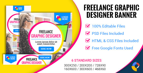 GWD | Freelance Graphic Designer - 002 - CodeCanyon Item for Sale