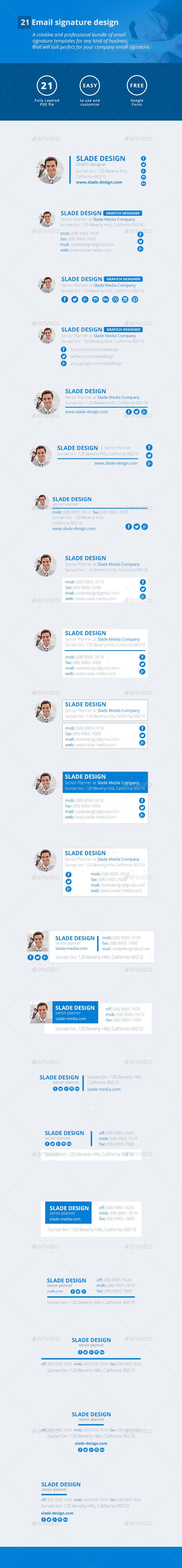 21 Email Signature Design - Miscellaneous Web Elements