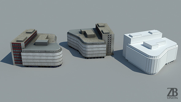 Lowpoly Building - 3DOcean Item for Sale