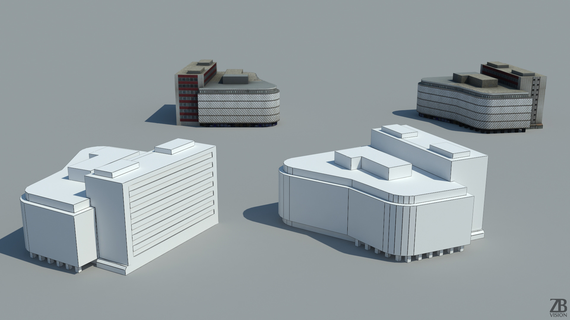 Lowpoly_Building_Comercial_Center_3D_mod