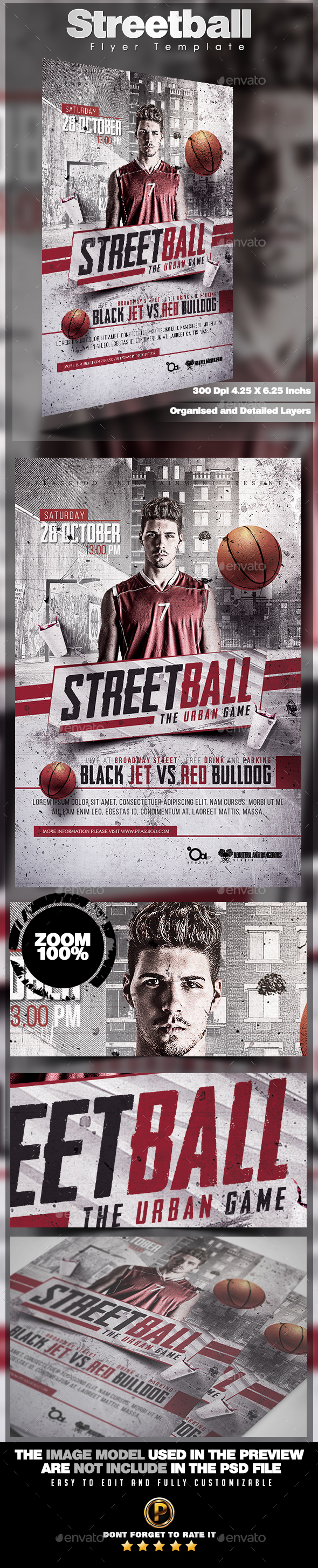 Streetball Flyer Template - Sports Events