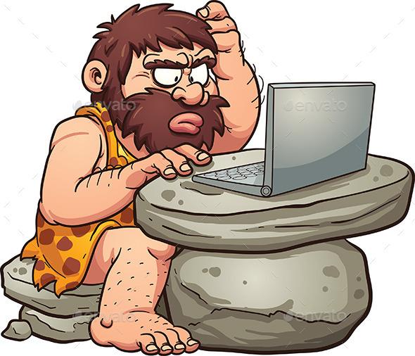 Computer Caveman - People Characters