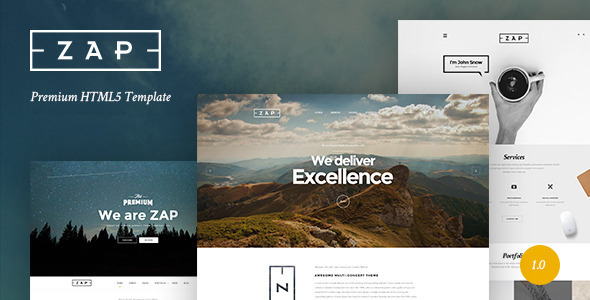 ZAP – Multi-Purpose HTML5 Template