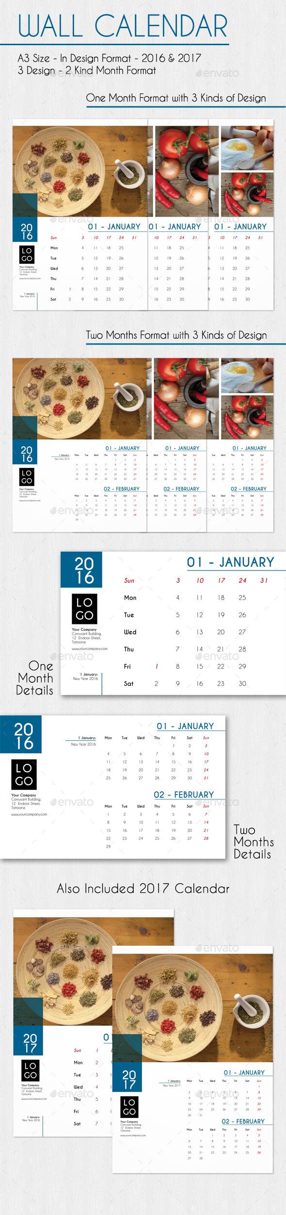 Wall Calendar - Calendars Stationery