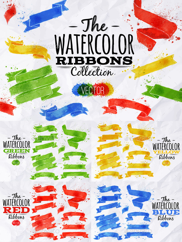 Watercolor Ribbons - Miscellaneous Conceptual