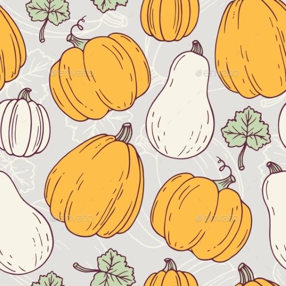 Hand Drawn Halloween Seamless Pattern - Patterns Decorative