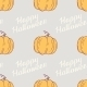 Hand Drawn Happy Halloween Seamless Pattern With - GraphicRiver Item for Sale