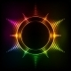 Abstract Rainbow Neon Spirals Vector Cosmic Star - GraphicRiver Item for Sale